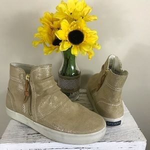 Top slider sperry zip up shoes